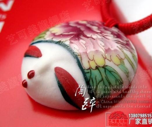 frete grátis xw009 nacional de jóias de cerâmica jóias colar boneca cabeça original acessórios jóias presentes& colares pingentes(China (Mainland))
