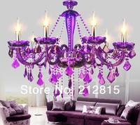 New Arrival Purple Crystal Chandelier Crystal Light 10 Arms JP513/10 D860MM H640MM