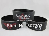 "Assassin's Creed wristband,silicone bracelet,figure wristband,,1"" wide band"