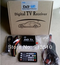 Wholesale Car DVB T2 Mobile Digital TV Box External USB DVB-T2 Car H.264 MPEG4 TV Receiver Russian&Europe&Southeast Asia(China (Mainland))