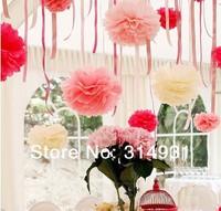 Min.order is $15(mix order)Diy 26 Colors 15cm(6 Inch) Paper Wedding Flowers Ball Wedding Decoration Flower 10pcs/Lot Free Ship
