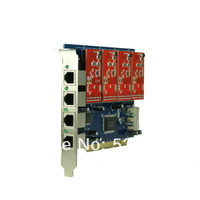 New TDM410P/TDM410 Asterisk card PCI-Express analog card with FXS or FXO inferface,analog voice card, No need Driver