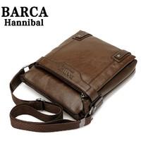 New 2014 New Style Genuine Leather Men Messenger Bags Shoulder Bags BARCA Hannibal Handbags Men Travel Bags M206