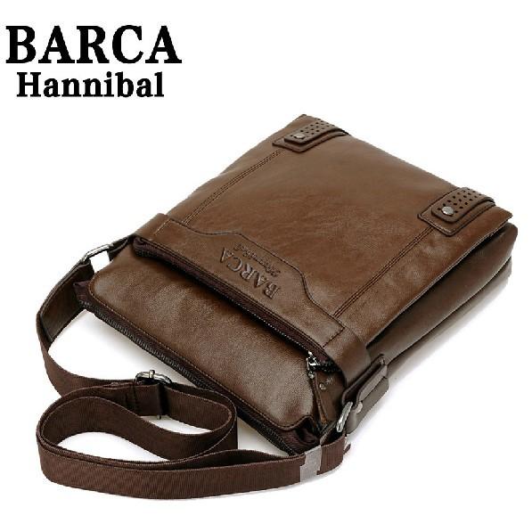 New 2014 New Style Genuine Leather Men Messenger Bags Shoulder Bags BARCA Hannibal Handbags Men Travel Bags M206(China (Mainland))
