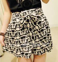2014 Knitting  Women'a Chiffon Shorts Sexy Skeleton Leopard Skirts Short Pants