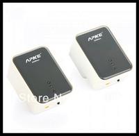 Free shipping 2 * 200Mbps Network Extender Homeplug AV Powerline Adapter Kit US Plug