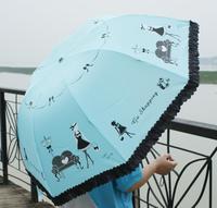 Piano beauty umbrella princess umbrella folding umbrella sun umbrella sun-shading anti-uv chromophous102