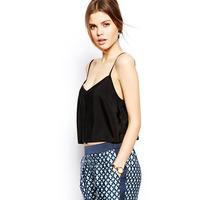 XS - XXL Plus Size Basic Black Camis, Women Satin Spaghetti Strap Tank Tops, Female Loose Vest 2014 Summer New Fashion