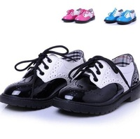2014 spring and autumn rabbit child male child sneakers shoe female child leather single shoes princess kid shoes