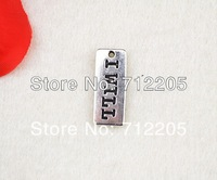 Free Shipping  latest design fashion 20pcs a lot I WILL charms(R112)