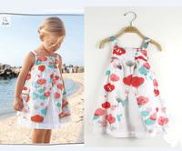 European Style 2014 Summer new fashion girls casual dresses flower children one-piece dress