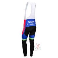Lampre blue pink 2013 team cycle BIB pants trousers Winter Fleece Thermal Cycling bike Full Length stretch tight biking Wear