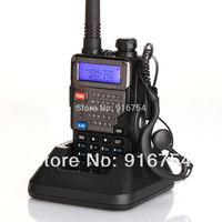 BaoFeng UV-5R Plus / UV-5R+(Black) / UV-5RE, 136-174/400-520MHz Two-Way Ham Radio, with Earphone, Qualette Series