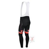 castelli red line 2013 team cycle BIB pants trousers Winter Fleece Thermal Cycling bike Full Length stretch tight biking Wear