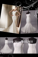 LB2890 Elegant Style Mermaid Wholesale Ivory Lace One Shoulder Sweetheart Bridal Wedding Dress,Bridal Wedding Gown Free Shipping