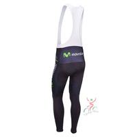 movistar 2013 team cycle BIB pants trousers Winter Fleece Thermal Cycling bike Full Length stretch tight biking Wear