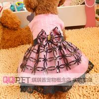 Pet clothes teddy dog clothes summer princess lace formal dress one-piece dress dog wedding dress