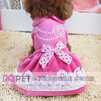Qiqipet pet clothes teddy dog clothes summer elegant princess lace one-piece dress