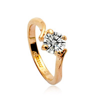 Italina New Brand Fashion Engagement  Ring Made With Genuine Clear Crystal  For Love
