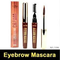 Free Shipping Eyebrow Mascara Enhancer with eyebrow brush 3 colors Waterproof Long lasting Cream Gel Eyebrow Makeup
