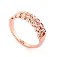 Dotted Shiny Australian Crystal Ring With 18 K Rose Gold Plated For Party