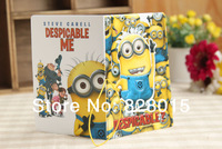 10pcs/lot 3D Movie Despicable Me 2 Minion Passport Holders Card Holder minion badges for gift Free Shipping