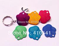2014 New Sale Wholesale Free Shipping Aluminium Mix Colors 500 Pcs/ Lot Fashion Pet Tags Dog Paw shape Pet ID Tags Dog tags