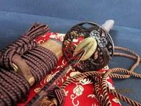 Battle ready clay tempered sanmai blade japanese flower katana hualee wood sheath