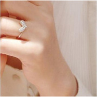 2014 Fashion Korea love heart rings wholesale jewelry for women party!Free shipping