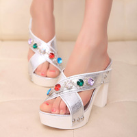 2014 New Diamond high-heeled sandals slippers new fashion women sandals jx2