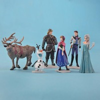 Wholesale 10 Sets ( 6pcs = 1set )Frozen Figure Play Set Anna Elsa Hans Kristoff Sven Olaf loose figure
