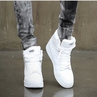 Male high-top shoes men's clothing skateboarding shoes fashion trend of men hip-hop shoes dance shoes leather sport shoes