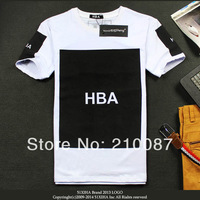 Summer new arrival 2014 fashion print hba male punk o-neck pullover short t