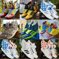 The trend of the wings shoes hip-hop shoes bone leopard print lovers skateboarding shoes high hip-hop shoes