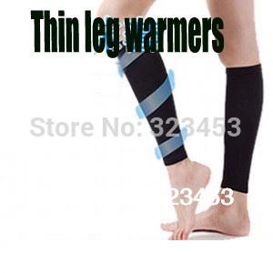 Women fitness thin leg warmers tights calves shaper burn fat varicose veins compression stovepipe(China (Mainland))