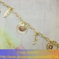 ISZ00718 18K golden plated pendant  bracelet