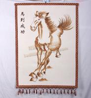 Felt drawn skin painting unique crafts horse 80cm 60cm Medium