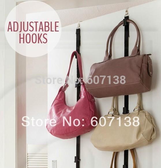 Hot Sale! ADJUSTABLE HOOKS Bag Rack,Hold and Organize handbag/purse/scarve/hat-16 items totally, 60sets=120pcs/lot(China (Mainland))