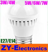 3pc/lot High brightness LED Bulb Lamp E27 2835SMD 3W 4W 5W 6W 7W AC220V 230V 240V Cold white/warm white Free shipping