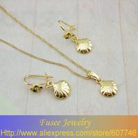TIZI00268 18K Gold Filled Fashion shell Jewelry Set