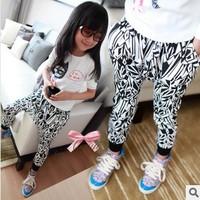 Wholesale children's clothing girls bloomers pants harem pants irregular geometric patterns 2-8 years old free shipping