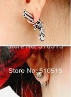 Pistol Bullet Gun Ear Cuff Charm Earrings