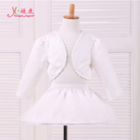 Brand Quality 2014 large female child flower girl cotton small cape children's clothing vest formal dress long-sleeve child