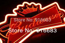 neon sign light BUDWEISER beer bar pub decoration advertising 35*20cm (China (Mainland))