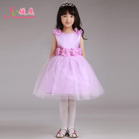 Brand Quality little girl dress 2014 female child princess wedding dress flower girl formal dress child autumn and winter