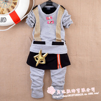 New 2014 wholesale 4sets/lot Spring children's clothing Long-sleeved pants two-piece outfit grils sets free shipping