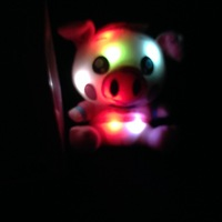 LED glow plush toys wholesale 18 cm light up stuffed pig toys for baby's toys gift,7'' mini stuffed animals flashing piggy toys