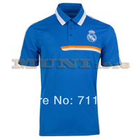 Blue Real Madrid 2014/15 POLO shirt, 2014/15 Real Madrid POLO Blue jersey Thailand AAA+ best Quality Soccer Jerseys Shirt.