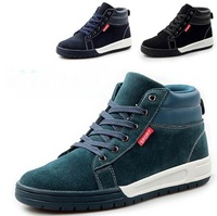 New Autumn/Winter Men's Canvas Lace-Up Casual Sneakers Shoes Free Shipping LSM024 (Can add Increased insole)