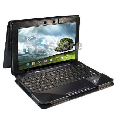teclado portfólio stand caso capa de couro para asus transformer pad tf300